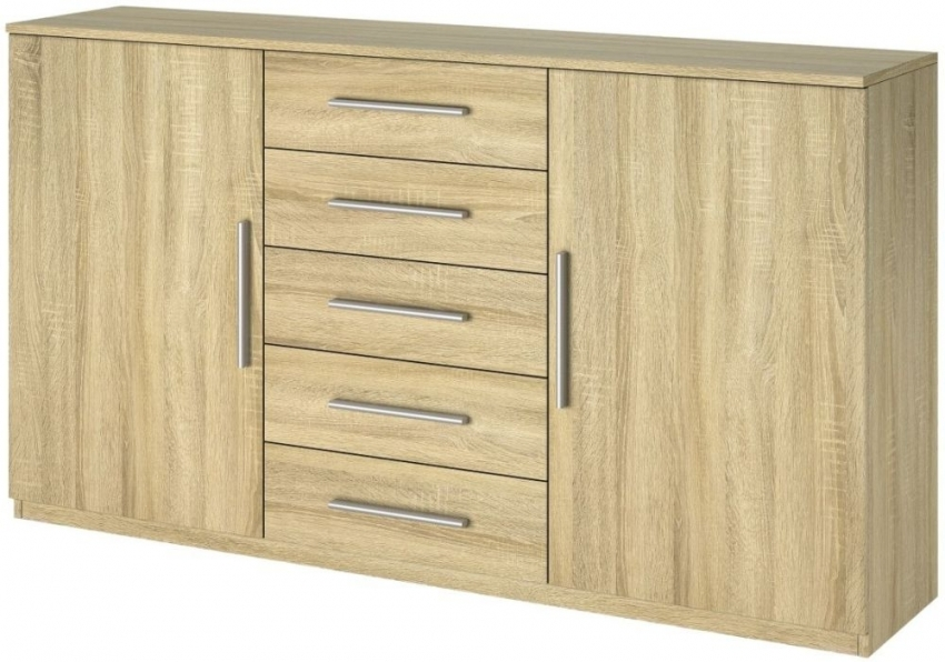 Rauch Vereno Sonoma Oak 1 Door 5 Drawer Combi Chest