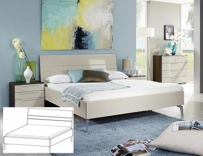 Rauch Zenaya White High Gloss Double Bed - 140cm x 190cm (In Stock)