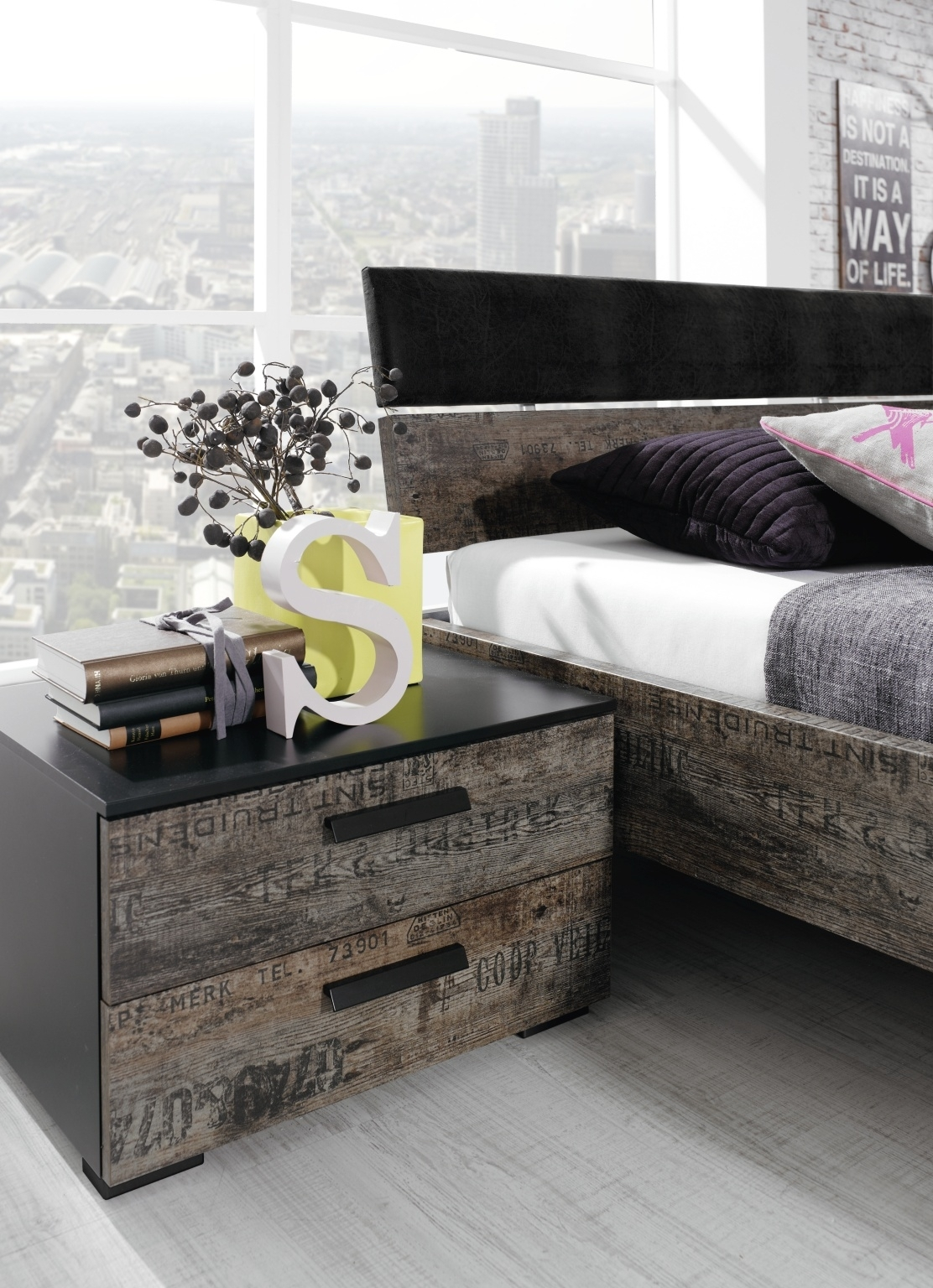 Rauch Sumatra 2 Drawer Bedside Cabinet (In Stock)