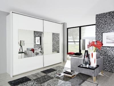 Rauch Xtend Sliding Wardrobe with Frame-1 Mirror
