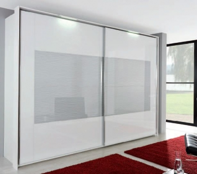 Rauch Xtend Sliding Wardrobe with Frame-2 Wave Glass