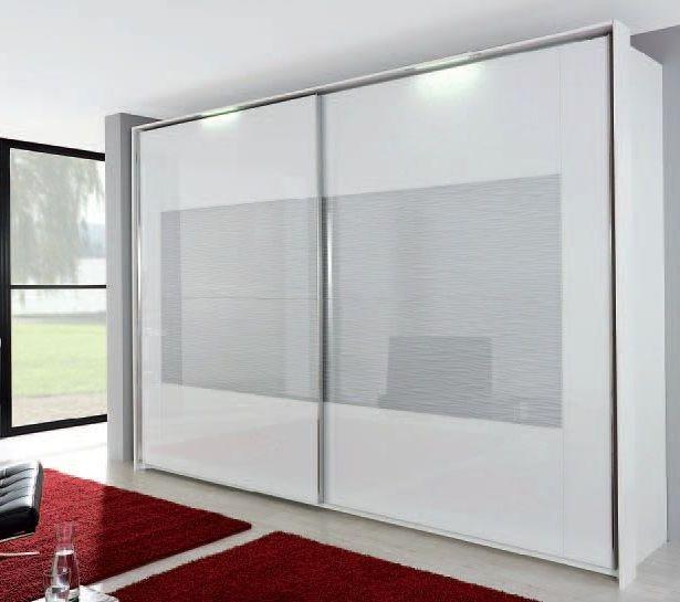 Rauch Xtend 2 Door Sliding Wardrobe in Alpine White and Silk
