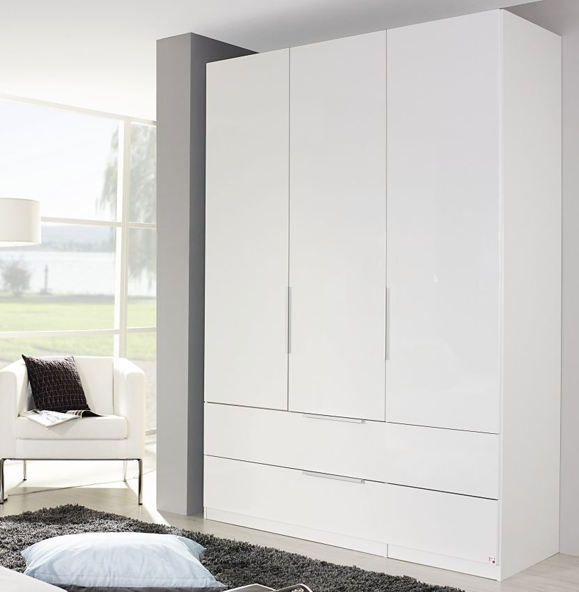 Rauch Zenaya Alpine White 3 Mirror Door 2 Drawer Wardrobe - W 151cm