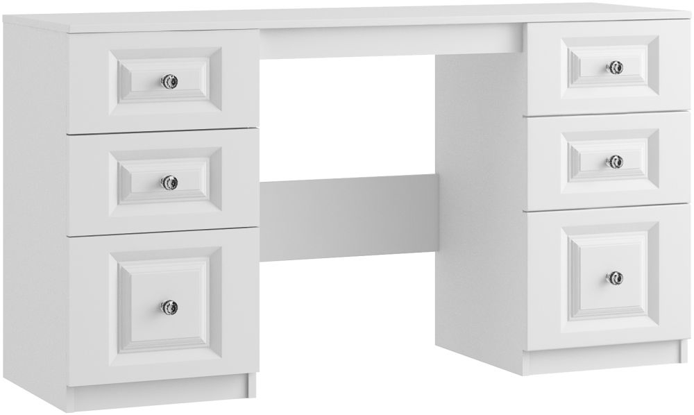 Alpha 6 Drawer Dressing Table - Ready Assembled