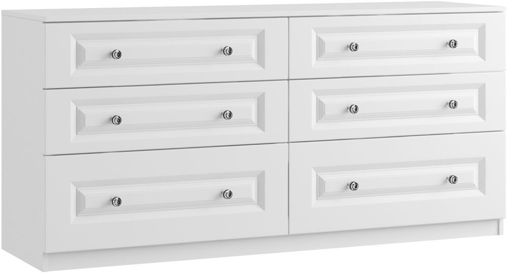 Alpha 6 Drawer Twin Chest - Ready Assembled