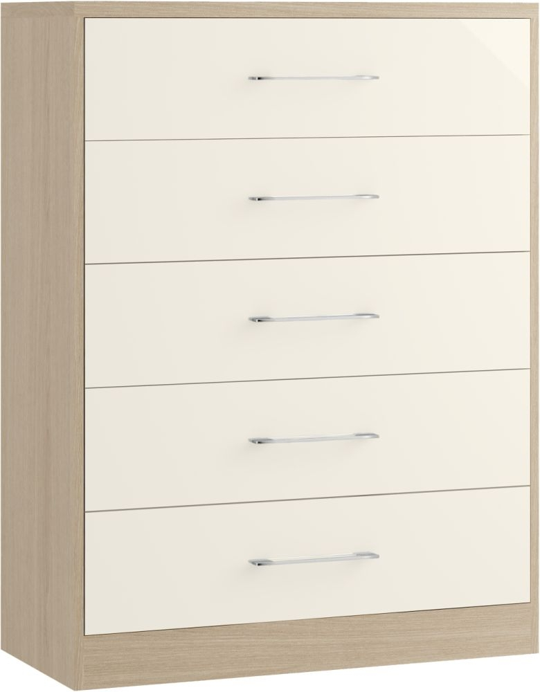 Azure 5 Drawer Chest - Ready Assembled