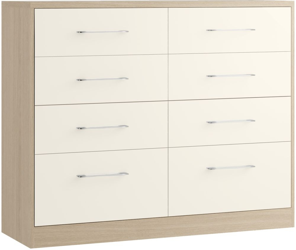 Azure 8 Drawer Twin Chest - Ready Assembled