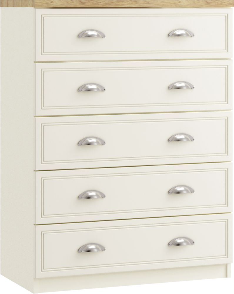 Charlotte 5 Drawer Chest - Ready Assembled