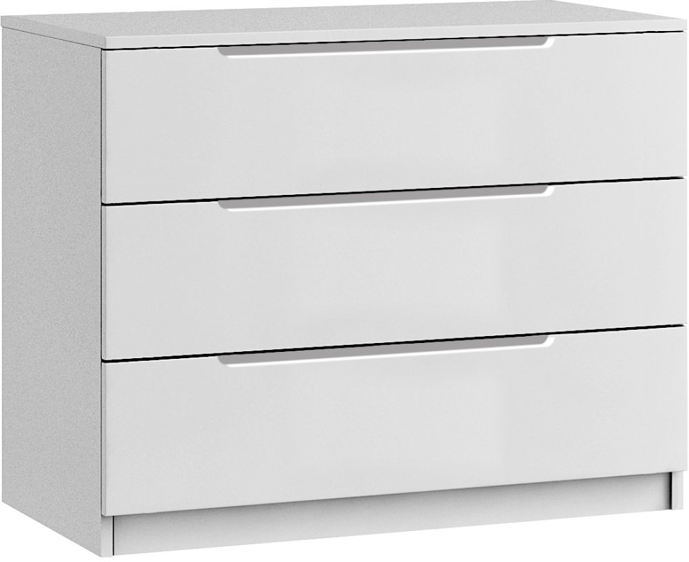 Cosmos 3 Drawer Chest - Ready Assembled