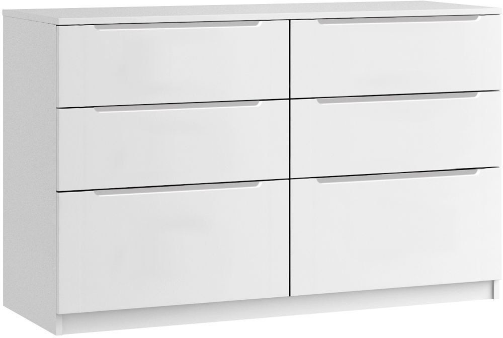 Cosmos 6 Drawer Twin Chest - Ready Assembled