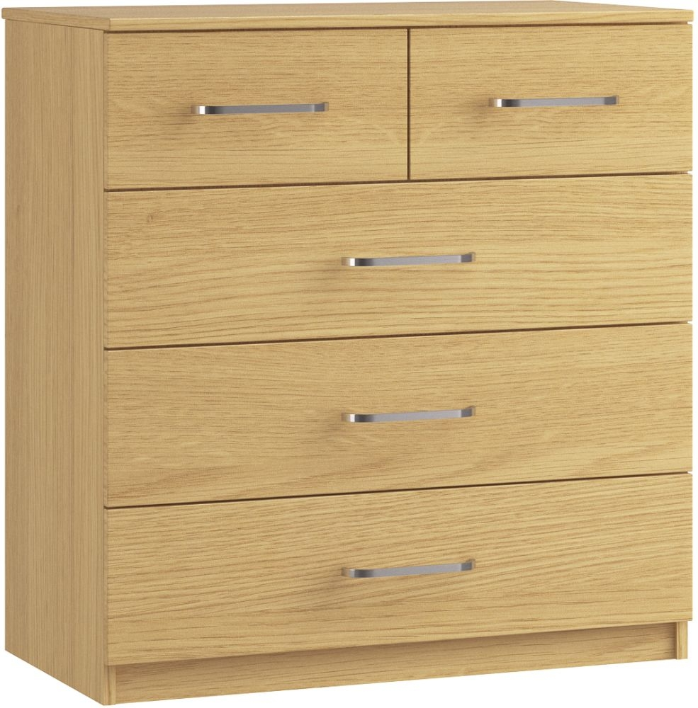 Dalby 3+2 Drawer Chest - Ready Assembled