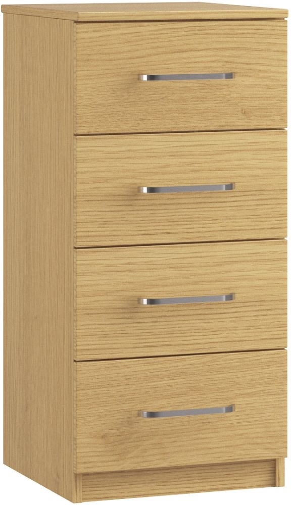 Dalby 4 Drawer Narrow Chest - Ready Assembled