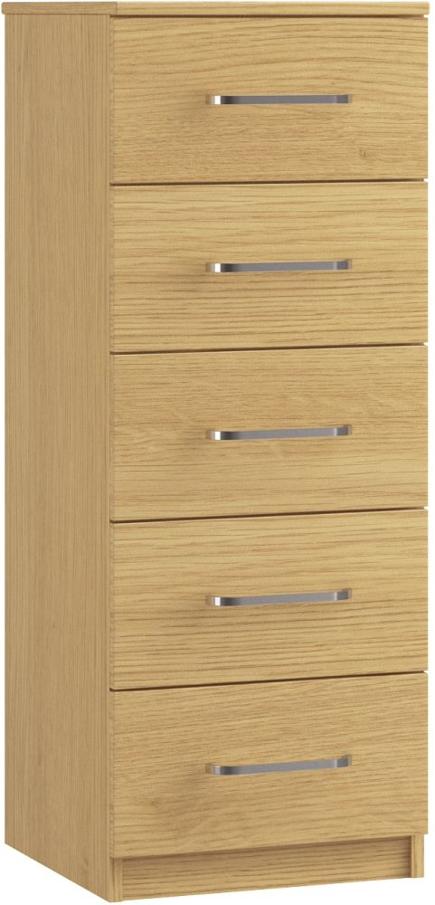 Dalby 5 Drawer Narrow Chest - Ready Assembled