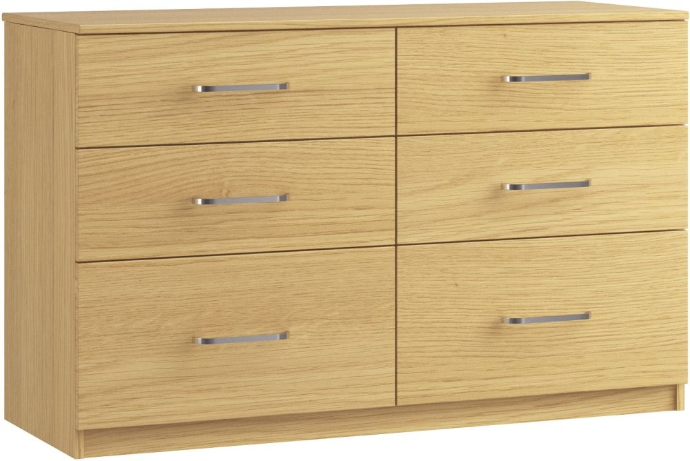 Dalby 6 Drawer Twin Chest - Ready Assembled