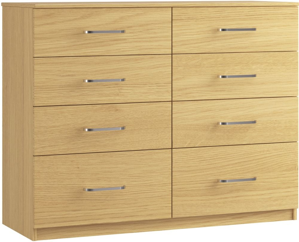 Dalby 8 Drawer Twin Chest - Ready Assembled
