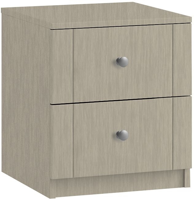 Montreal 2 Drawer Bedside Cabinet - Ready Assembled