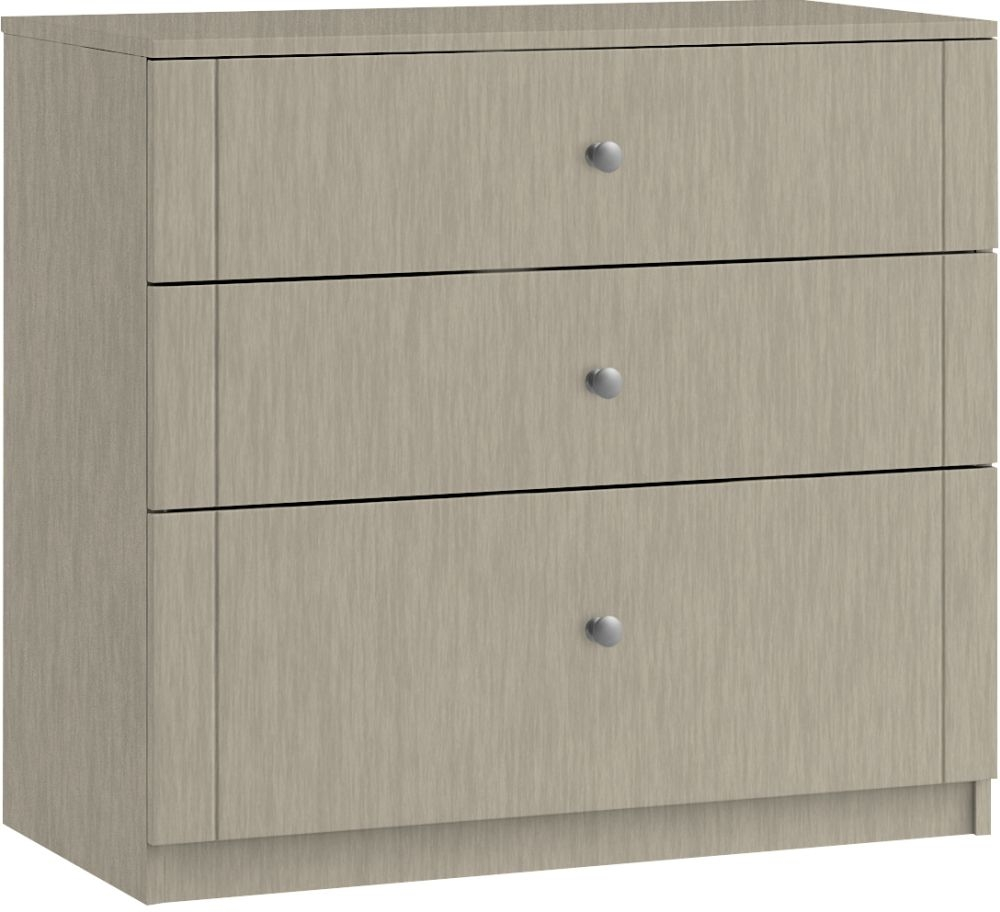 Montreal 3 Drawer Deep Chest - Ready Assembled
