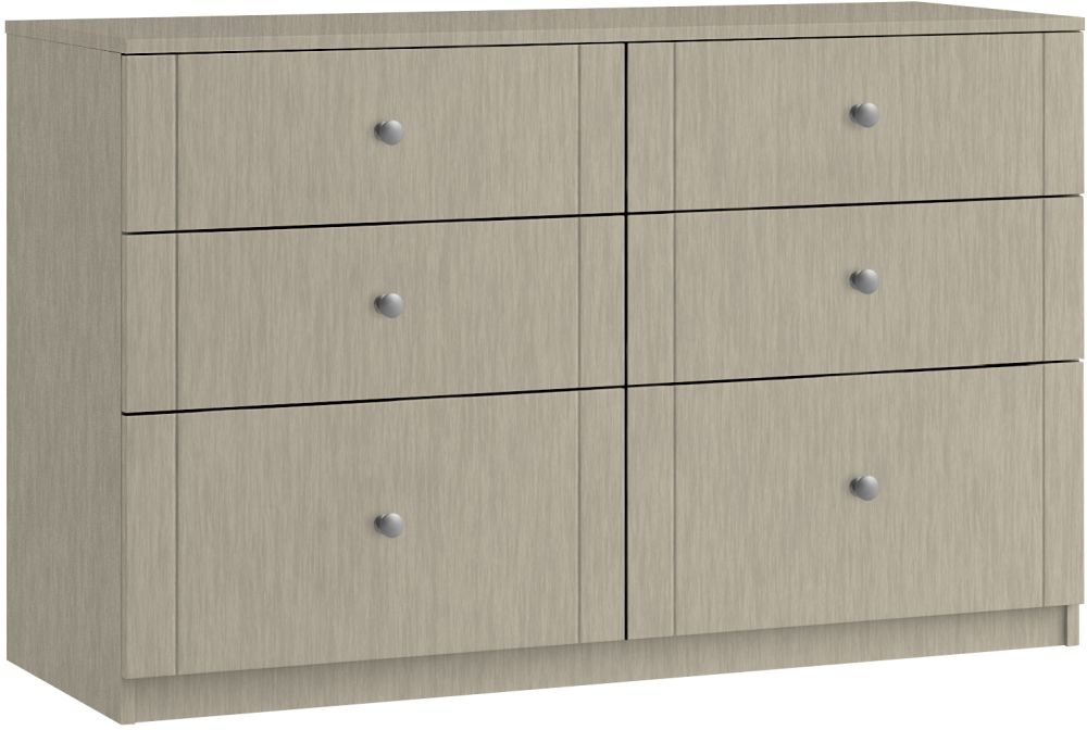 Montreal 6 Drawer Twin Chest - Ready Assembled