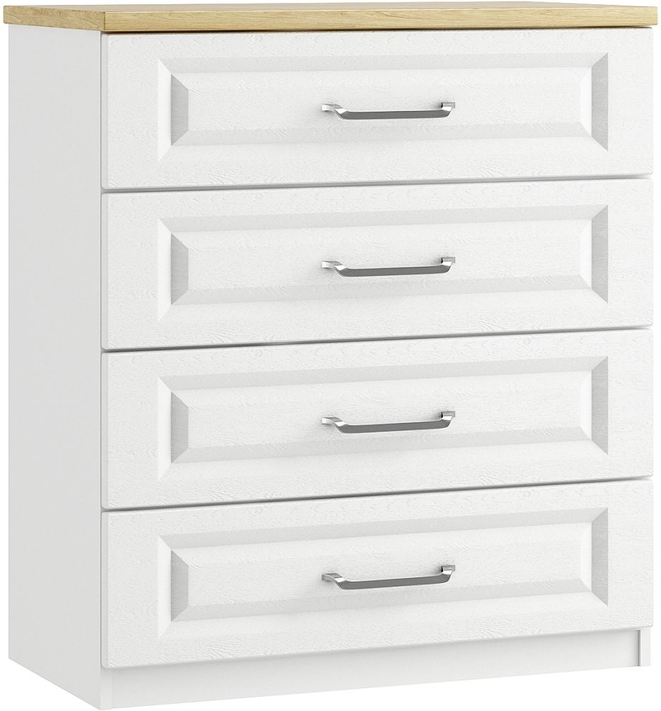 Naples 4 Drawer Chest - Ready Assembled
