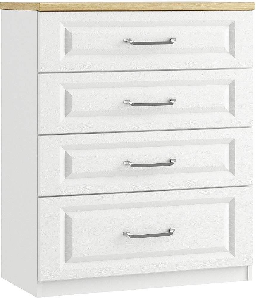 Naples 4 Drawer Deep Chest - Ready Assembled