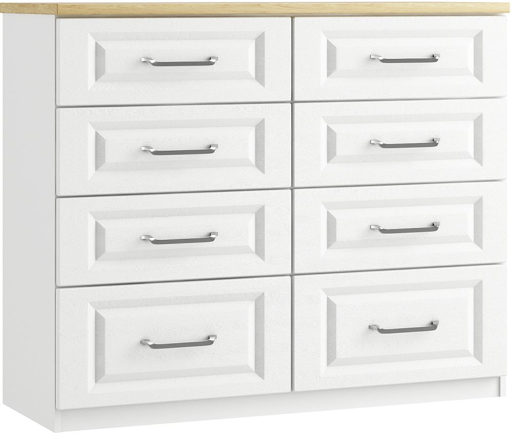 Naples 8 Drawer Twin Chest - Ready Assembled