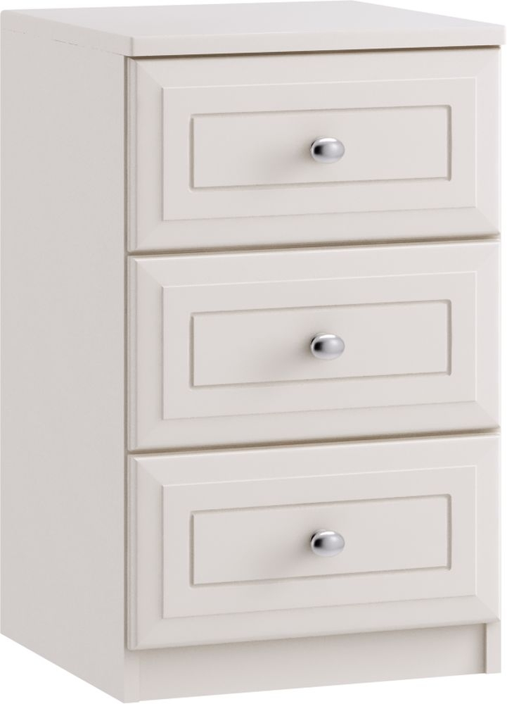 Nicole 3 Drawer Bedside Cabinet - Ready Assembled