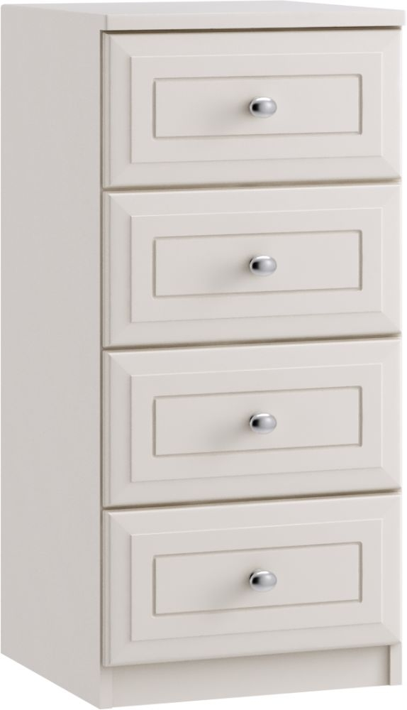 Nicole 4 Drawer Narrow Chest - Ready Assembled