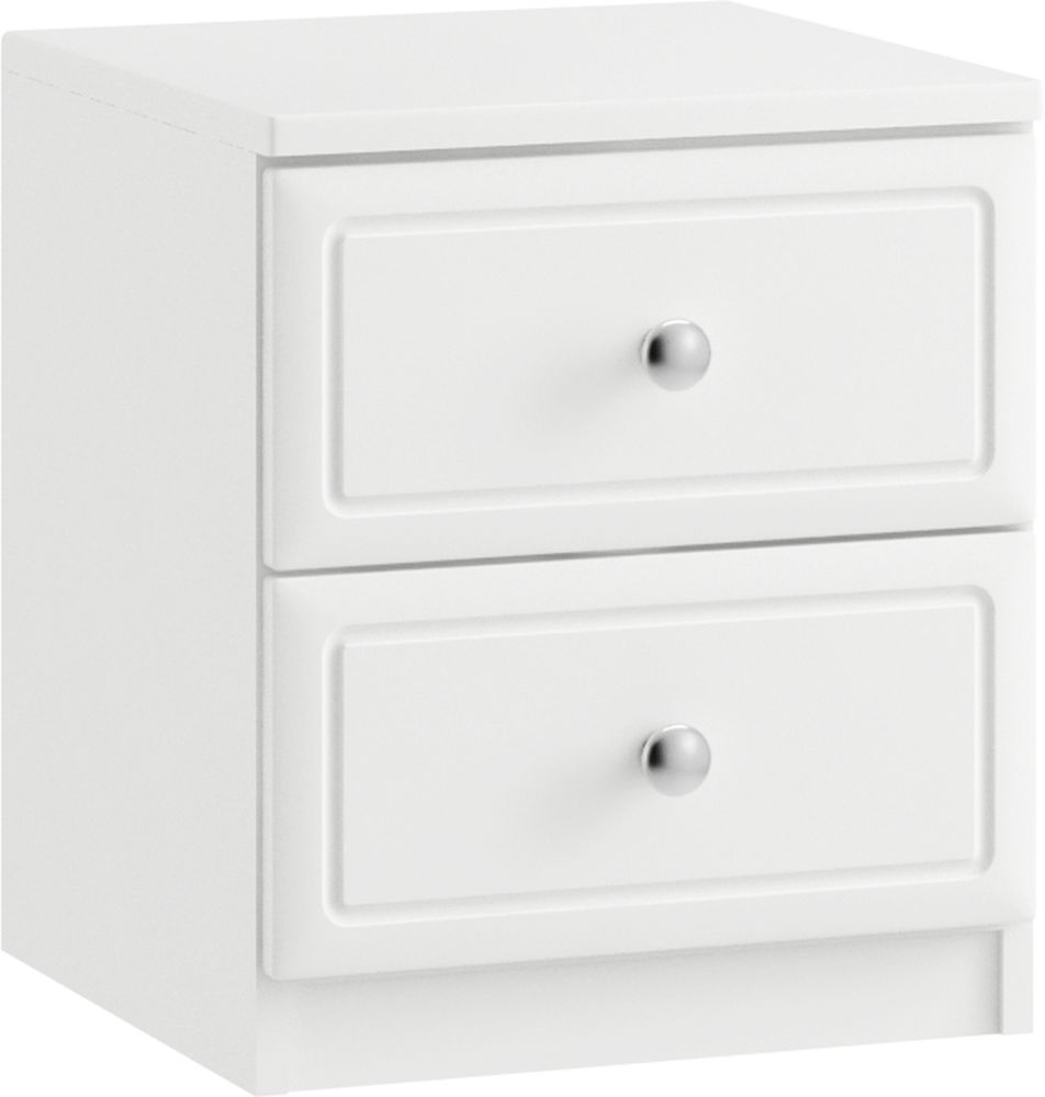 Pembury 2 Drawer Bedside Cabinet - Ready Assembled