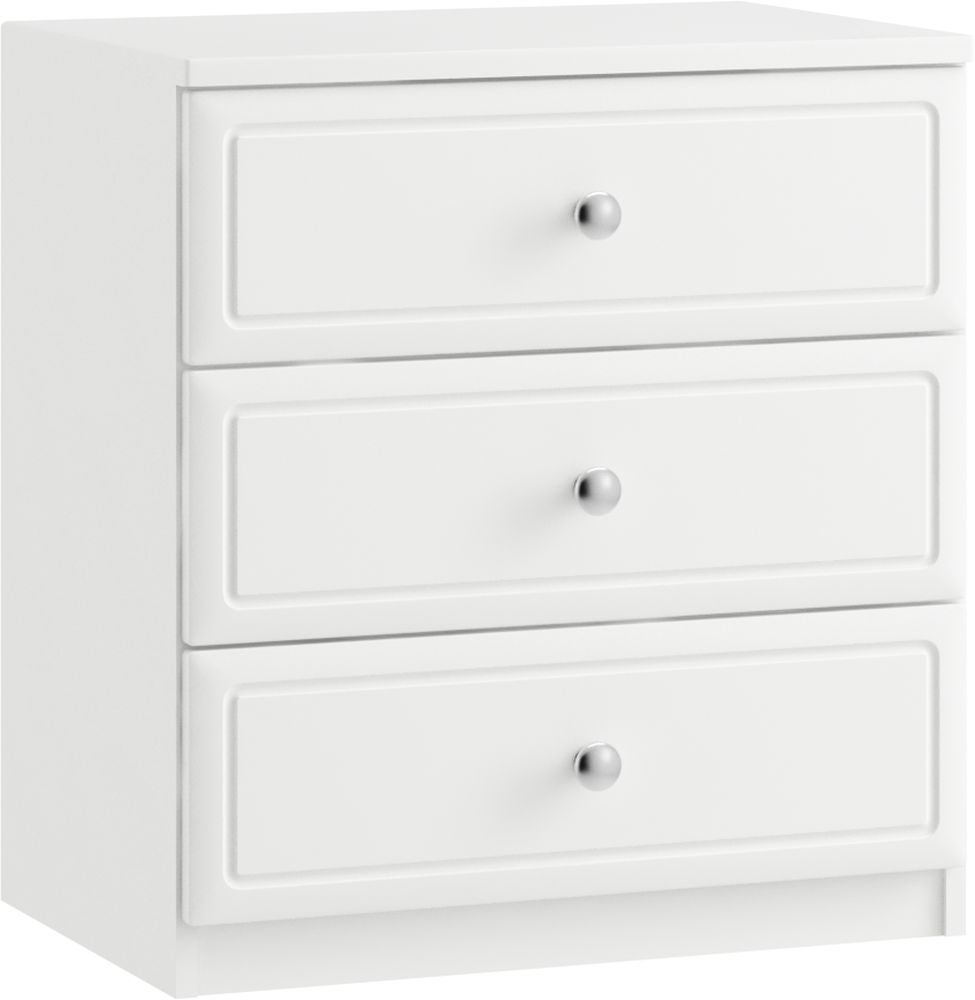 Pembury 3 Drawer Midi Chest - Ready Assembled