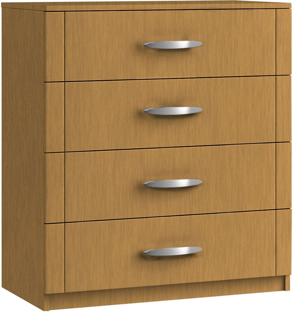 Serena 4 Drawer Chest - Ready Assembled