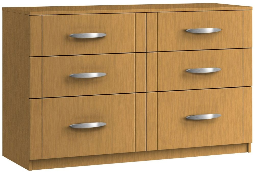 Serena 6 Drawer Twin Chest - Ready Assembled