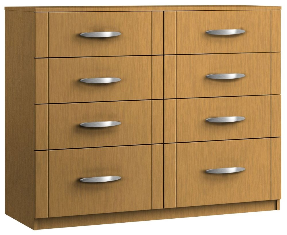 Serena 8 Drawer Twin Chest - Ready Assembled