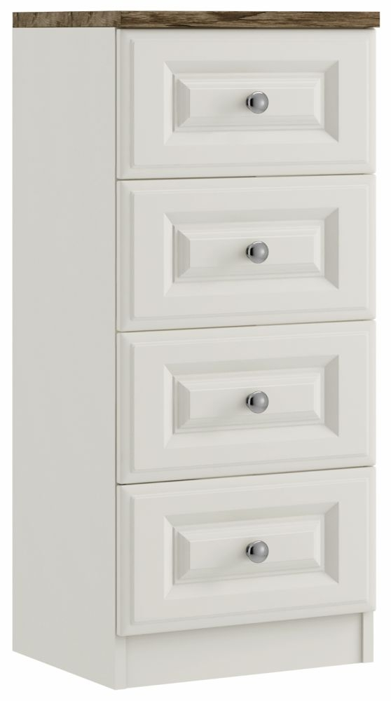 Sophie 4 Drawer Narrow Chest - Ready Assembled