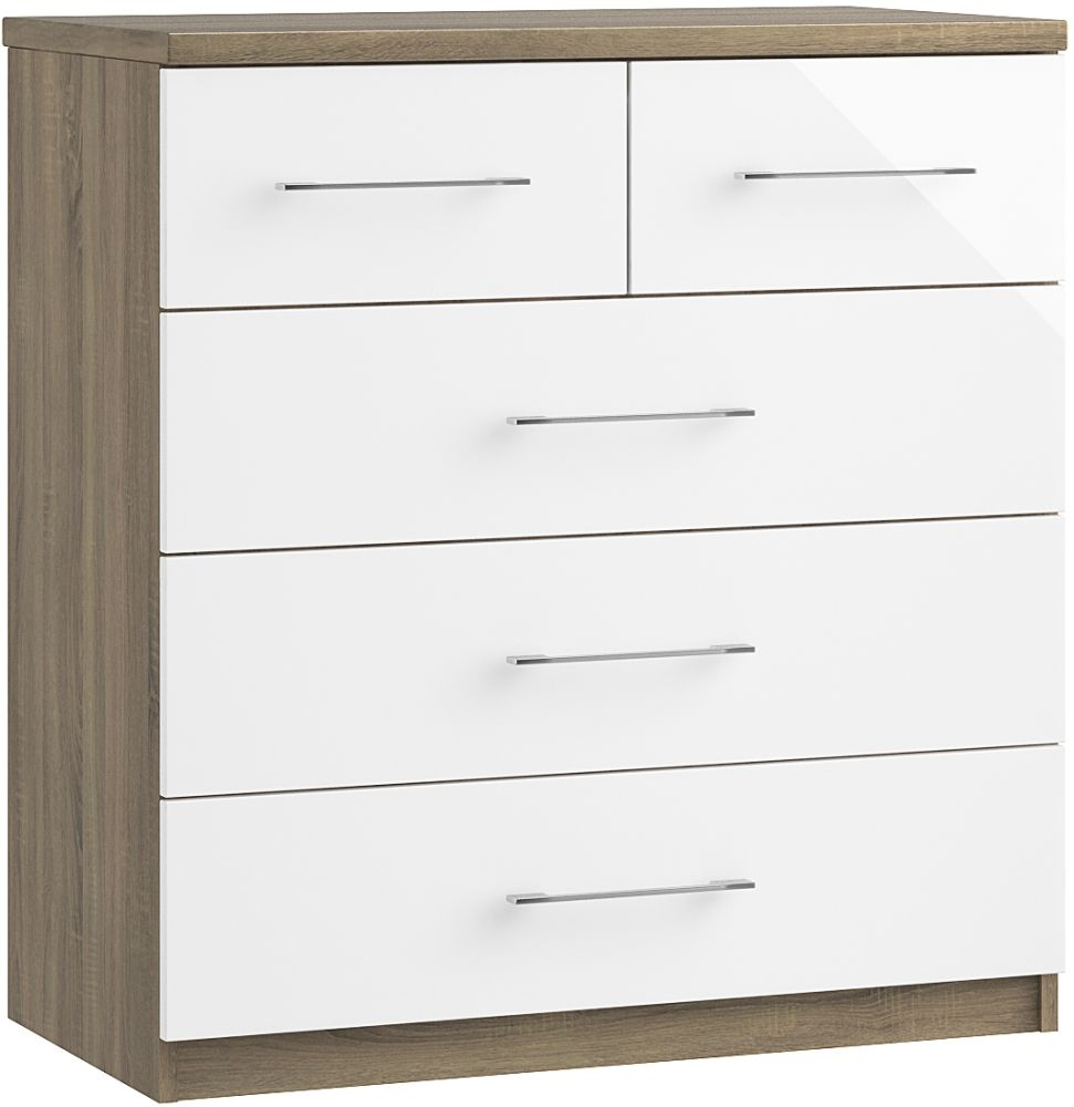 Toledo 3+2 Drawer Chest - Ready Assembled