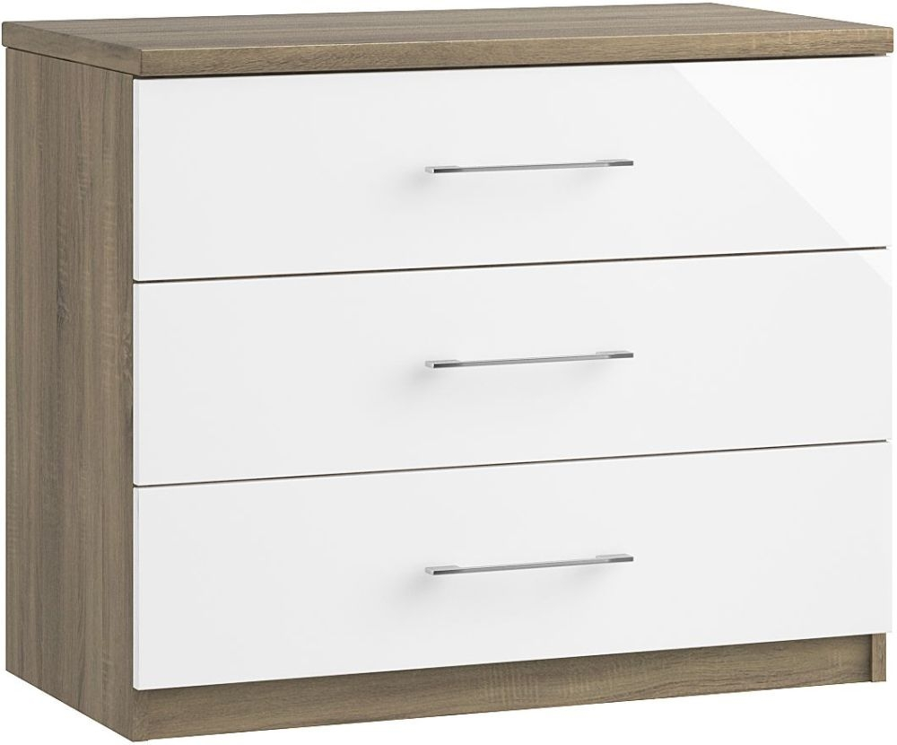 Toledo 3 Drawer Chest - Ready Assembled