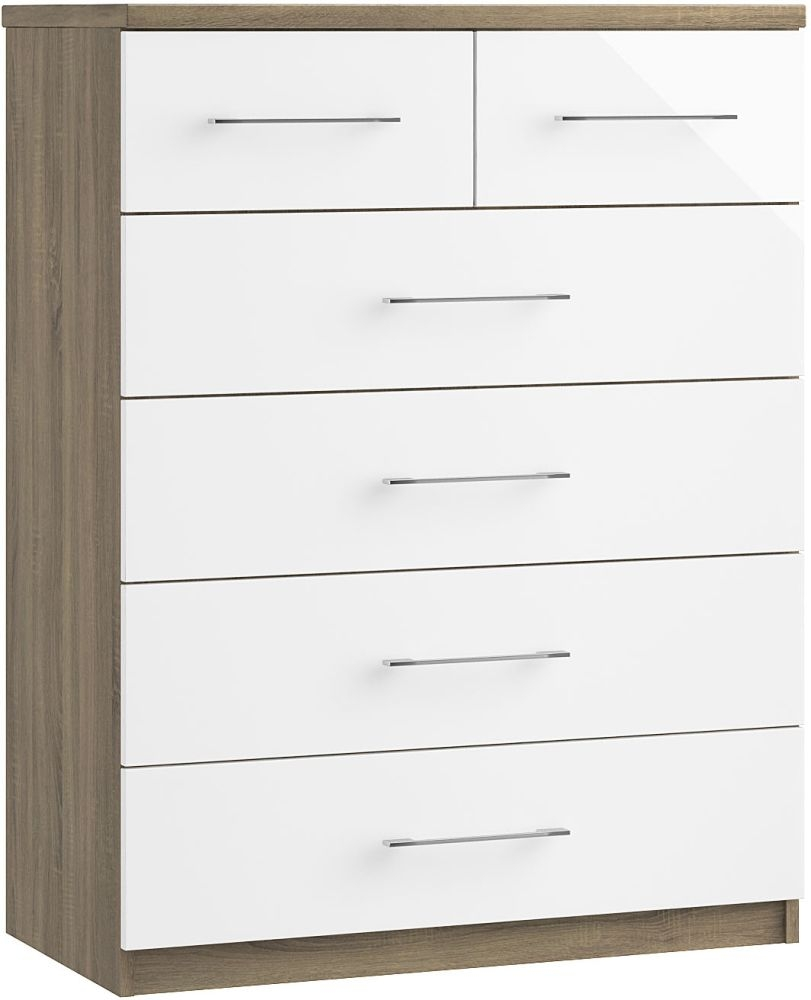 Toledo 4+2 Drawer Chest - Ready Assembled