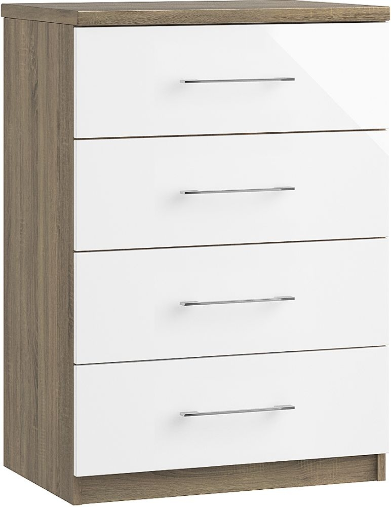 Toledo 4 Drawer Midi Chest - Ready Assembled
