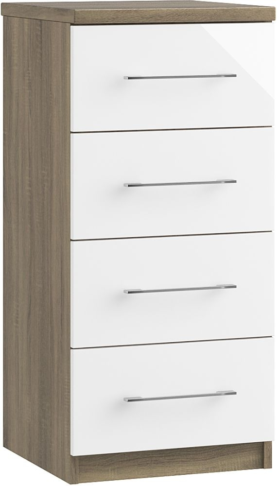 Toledo 4 Drawer Narrow Chest - Ready Assembled