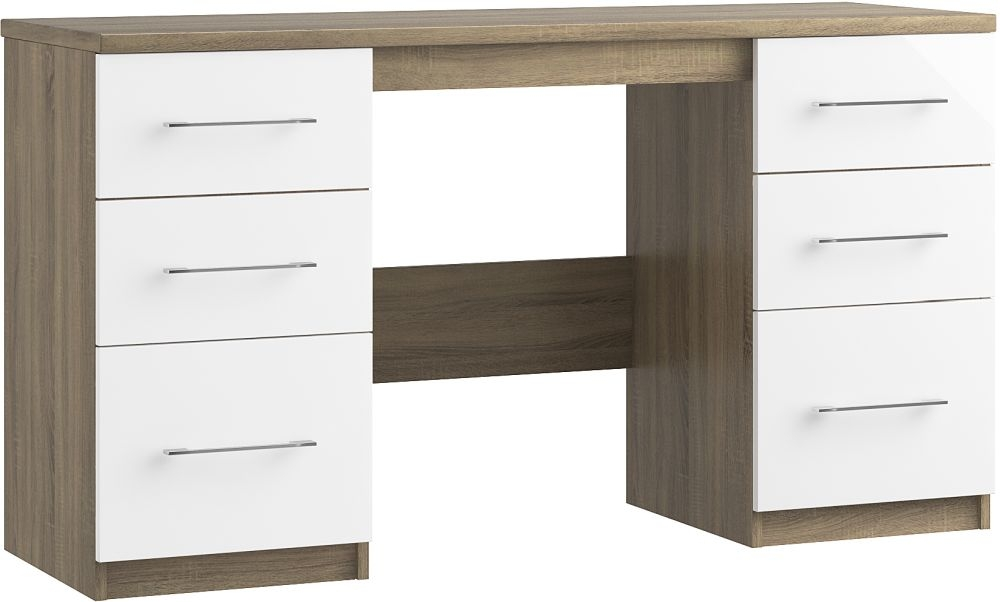 Toledo 6 Drawer Dressing Table - Ready Assembled