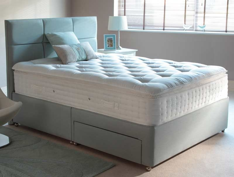 Relyon pillowtop ultima fabric divan bed for Best divan beds uk