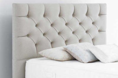 Relyon Harlequin Pleated Buttoned Extra Height Fabric Wide Headboard