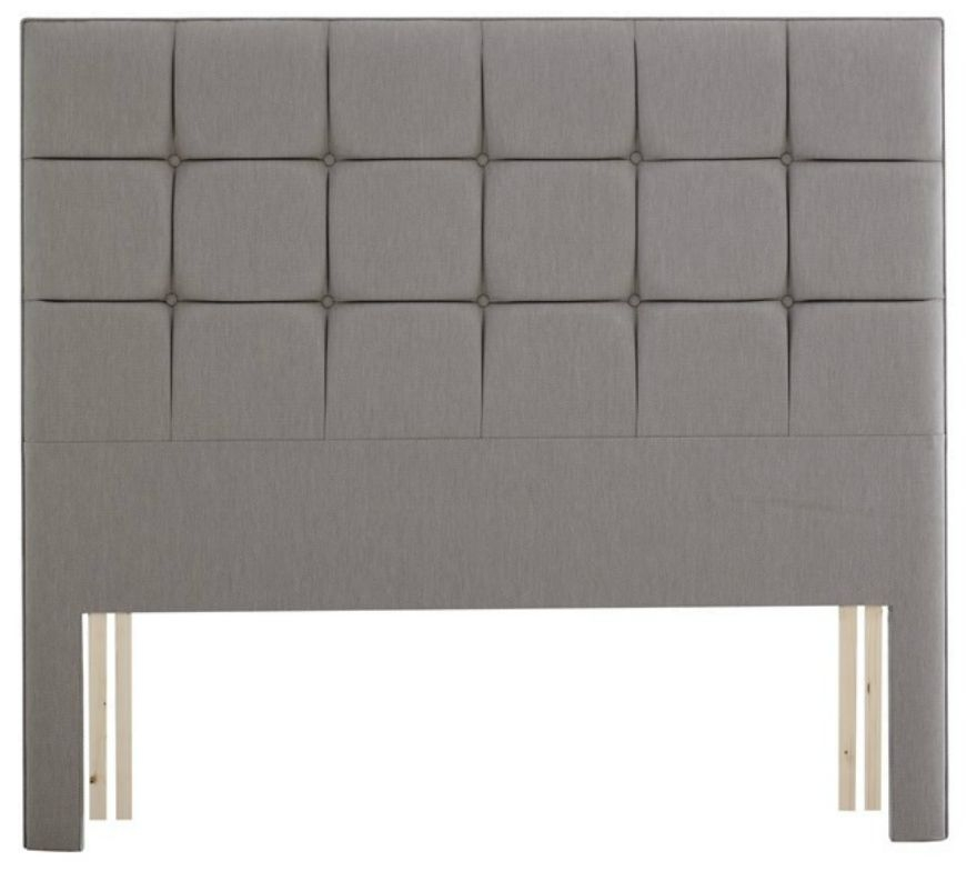 Relyon Deep Buttoned Extra Height Fabric Wide Headboard