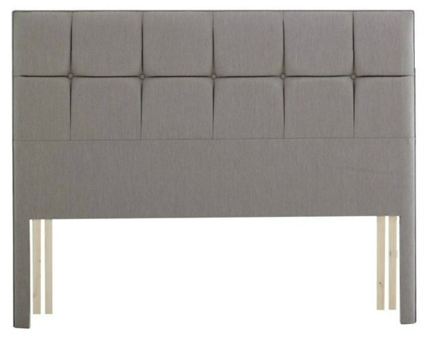 Relyon Deep Buttoned Fabric Slim Headboard