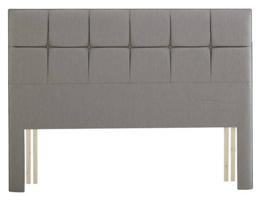 Relyon Deep Buttoned Fabric Wide Headboard