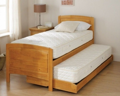 Relyon Storabed Deluxe 3ft Single Matt Oak Guest Bed with Mattress