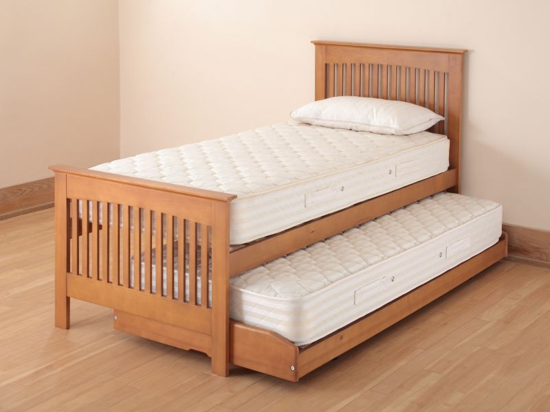 Relyon Storabed Duo 3ft Single Oak Guest Bed with Mattress
