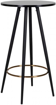 Lando Black Round Bar Table