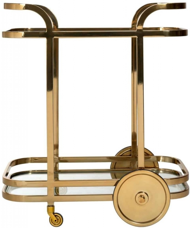 XO Glass and Gold Trolley