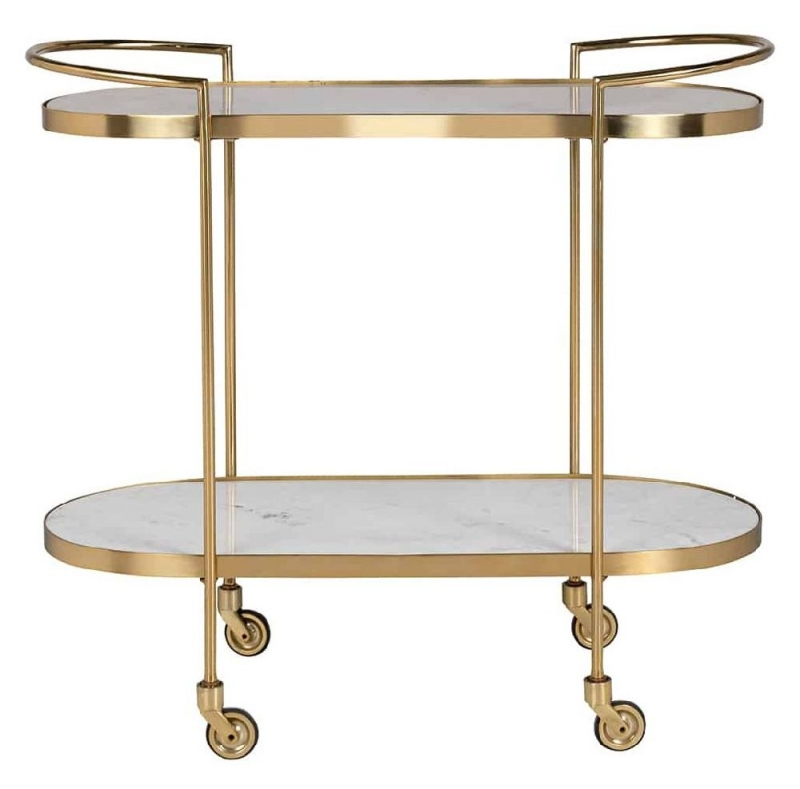 Bombay Stone Marble and Gold Trolley