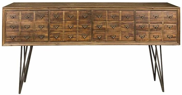 Barclay Reclaimed Pine Sideboard - 8 Drawer